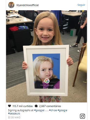 Foto en el instagrama oficial de Chloe y Lily
