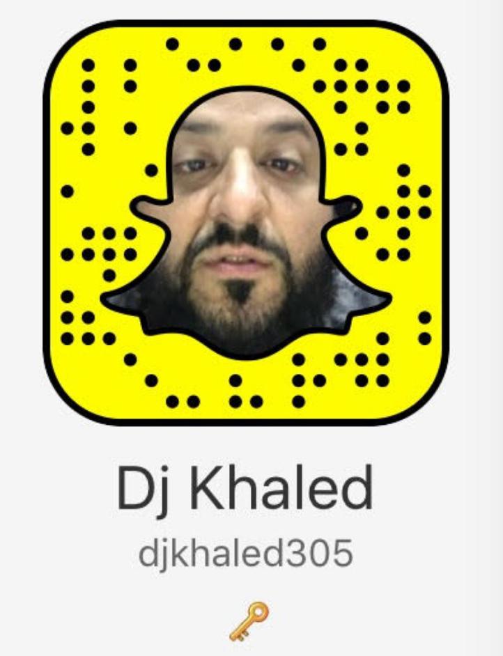 Image of Dj Khaled's Snapchat