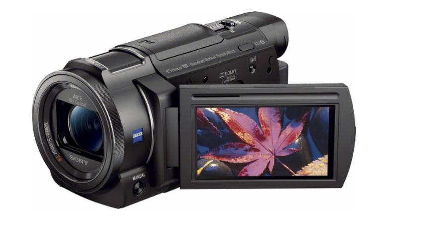 في الصورة مثال على كاميرا الفيديو