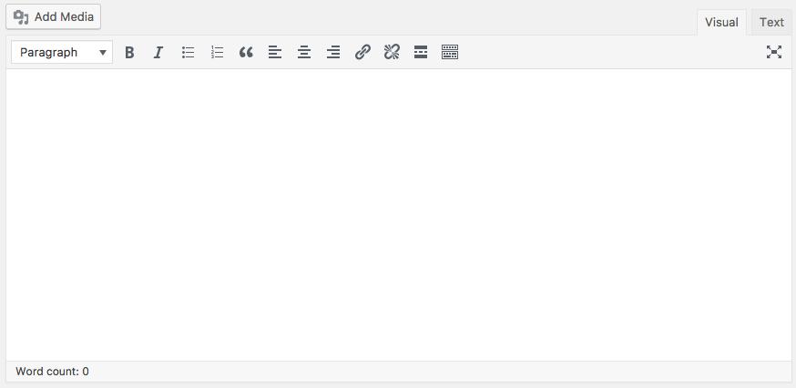 شكل يوضح الأدوات الرئيسية في صفحة إضافة منشور في وردبريس