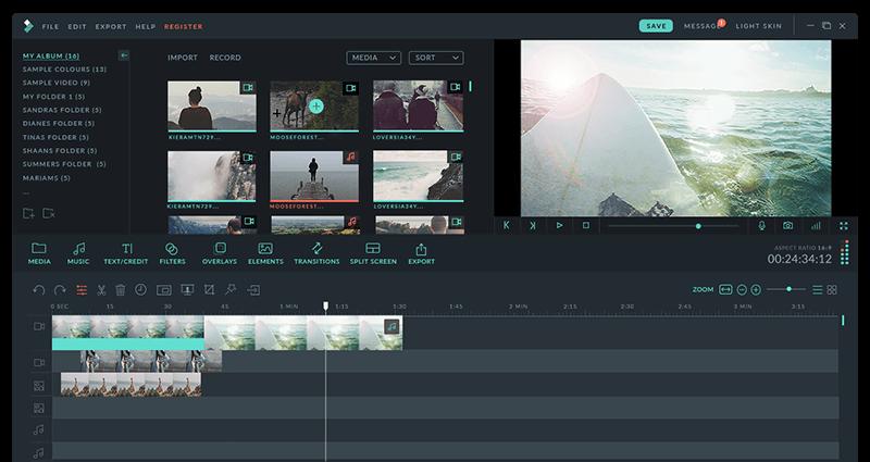Logiciel de montage vidéo - Filmora (Wondershare Video Editor)