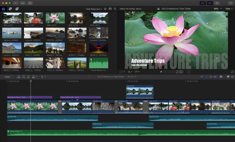 Logiciel de montage vidéo - Final Cut