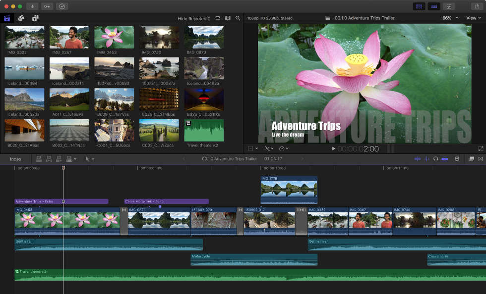 Printscreen of the Final Cut's interface