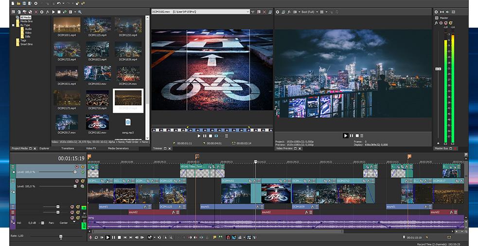 Logiciel de montage vidéo - Vegas Pro