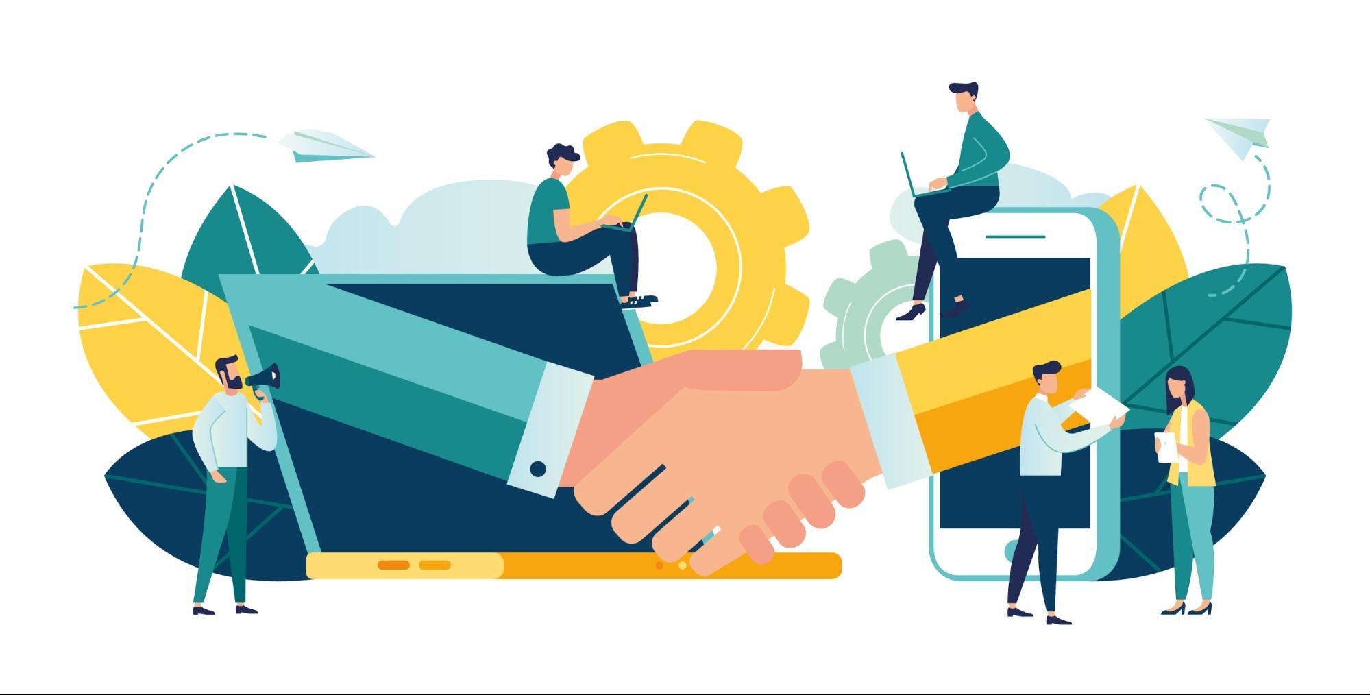 estratégias de marketing - imagem que ilustra as parcerias