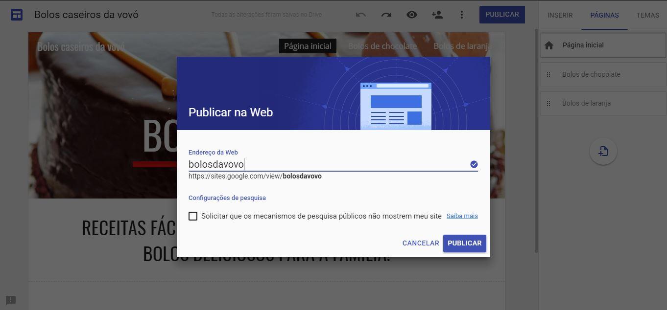 e8482355a Como criar um site - imagem mostrando como publicar seu site na web e  acrescentar seu