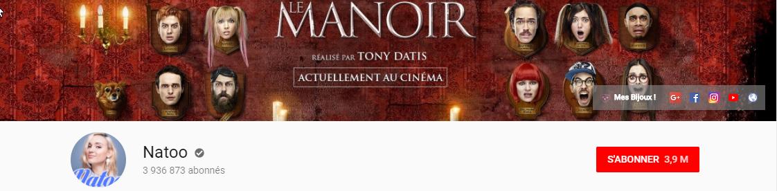 Salaire d'un youtubeur - la chaîne de Natoo