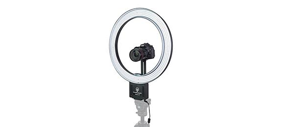 Iluminación para vídeos - imagen de un Ring light