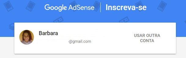 criar um canal no YouTube - imagem da tela de inscrição do Google AdSense