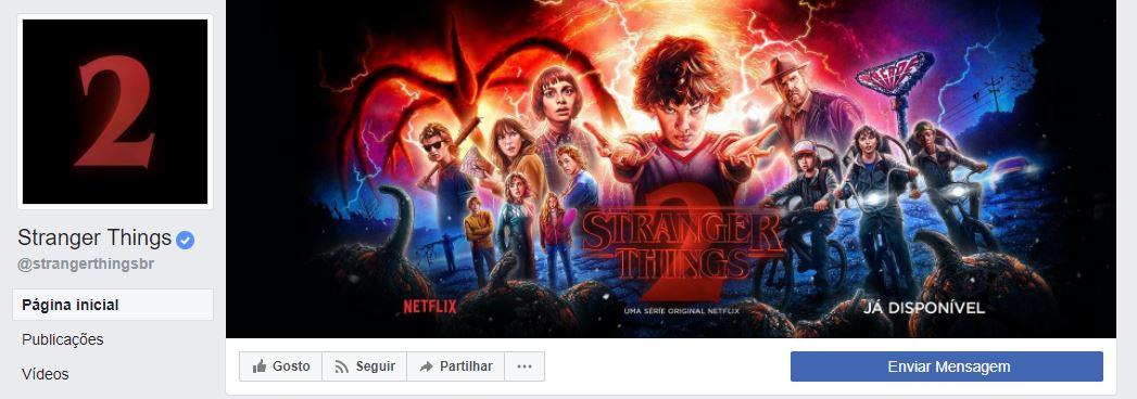 imagens para o facebook - imagem da foto de capa da página de Stranger Things no Facebook