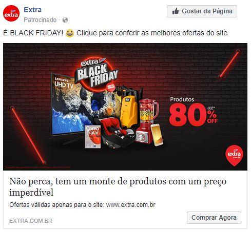 imagens para o facebook - imagem de uma promoção bçack friday no facebook