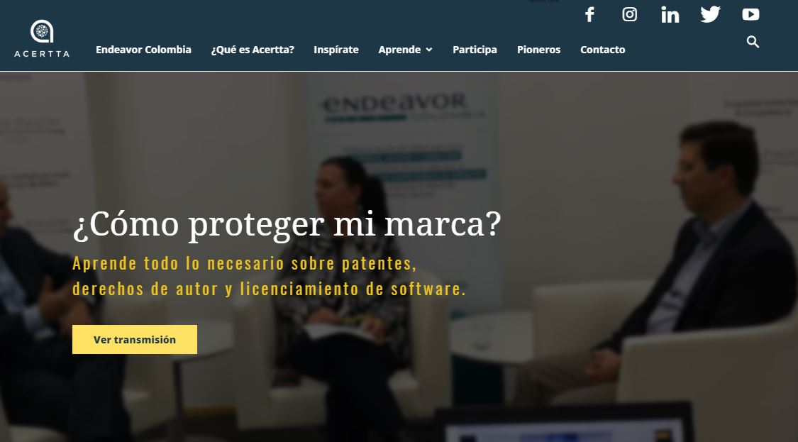 ursos de marketing digital - website de Acertta