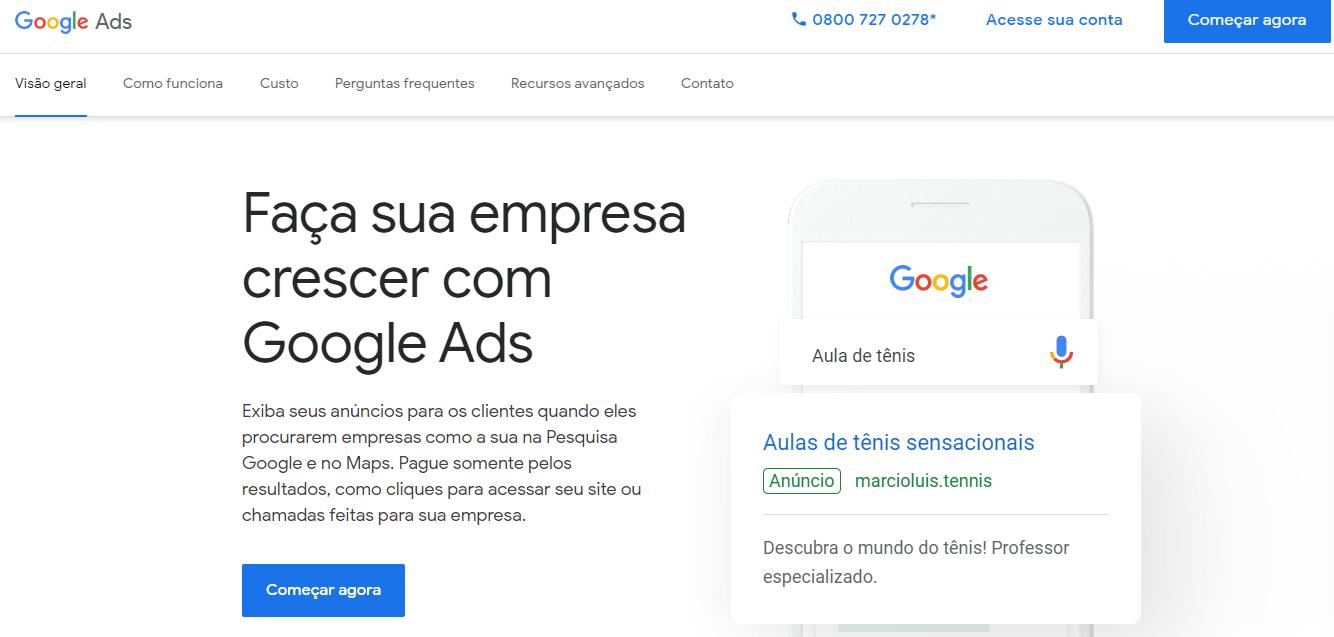 google ads acessar agora