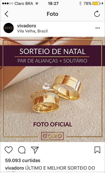 funcionalidades do Instagram - imagem de uma promoção no instagram