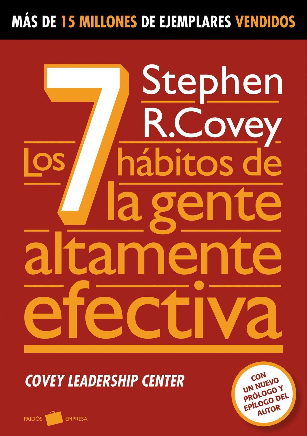 """Libros sobre liderazgo - Tapa del libro """"Los 7 hábitos de la gente altamente efectiva"""""""