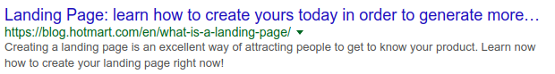 SEO - Example of a too long title