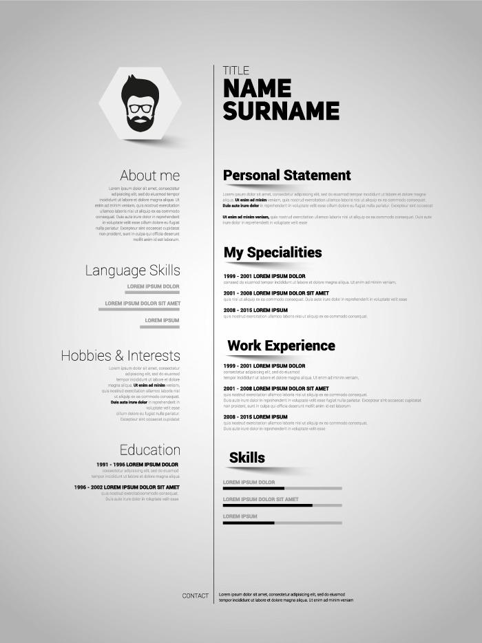 Cómo hacer un currículum vitae - Ejemplo 03