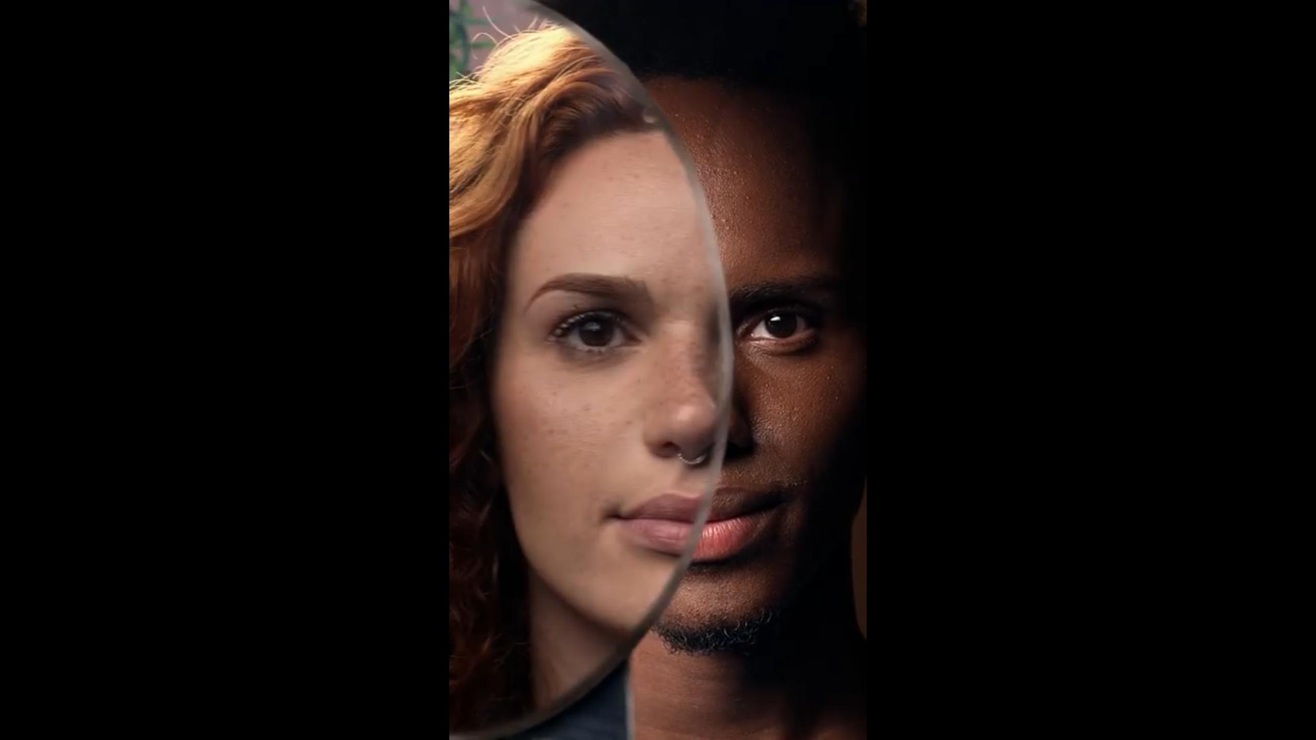 instagram stories - imagem da metade do rosto de duas pessoas
