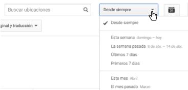 Youtube Analytics - Imagen que muestra donde hacer clic para ajustar período de tiempo