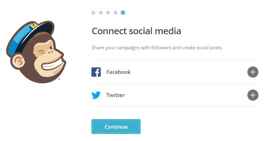 وصل الحساب مع شبكات التواصل الاجتماعي