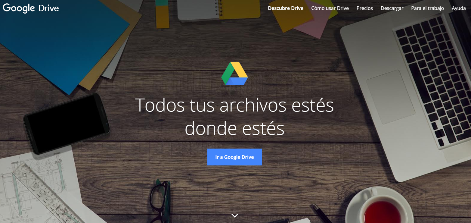 Google Drive sítio web