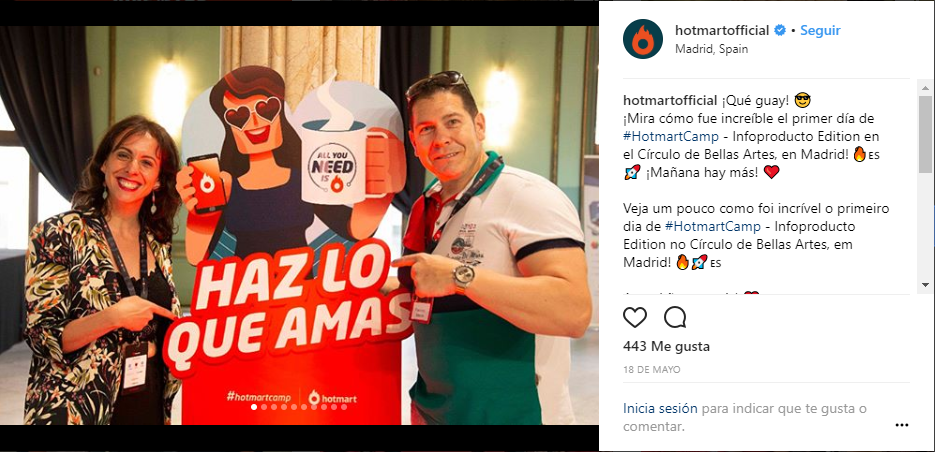imágenes de redes sociales - ejemplo de imagen publicada en Instagram