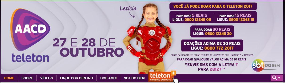 marketing social - imagem da propaganda da Teleton