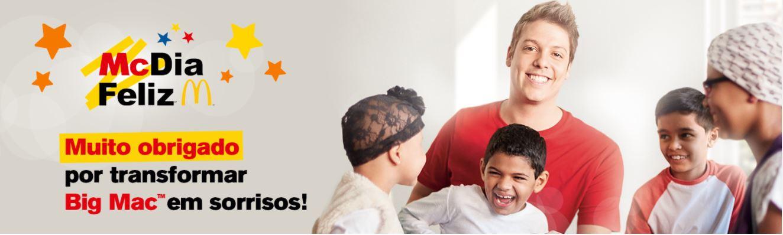 marketing social - imagem da propaganda do McDia Feliz