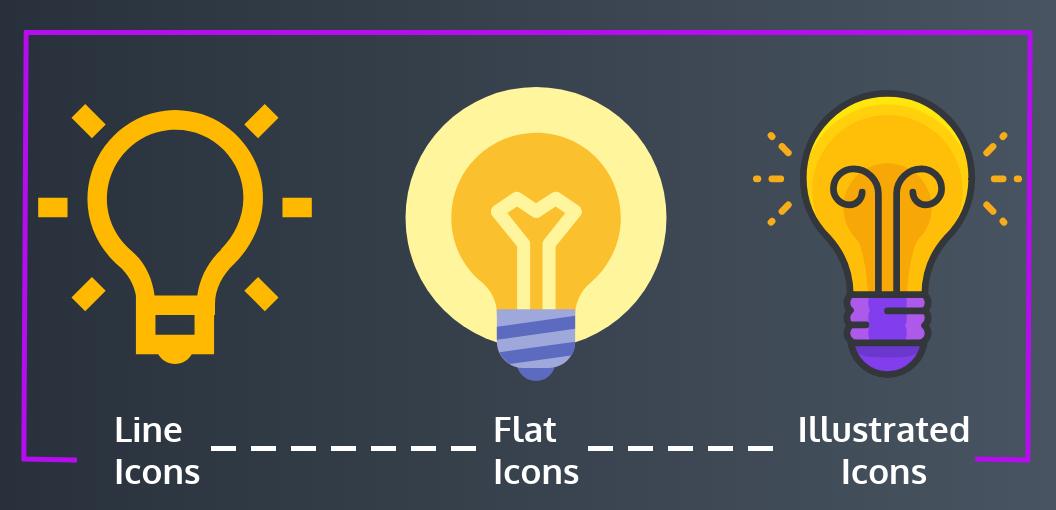 Diseño de infografía - ejemplo de iconos