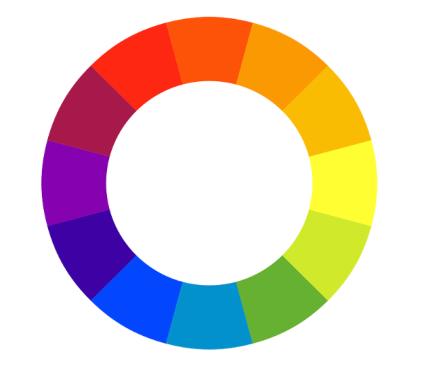 Diseño de infografía - rueda de color