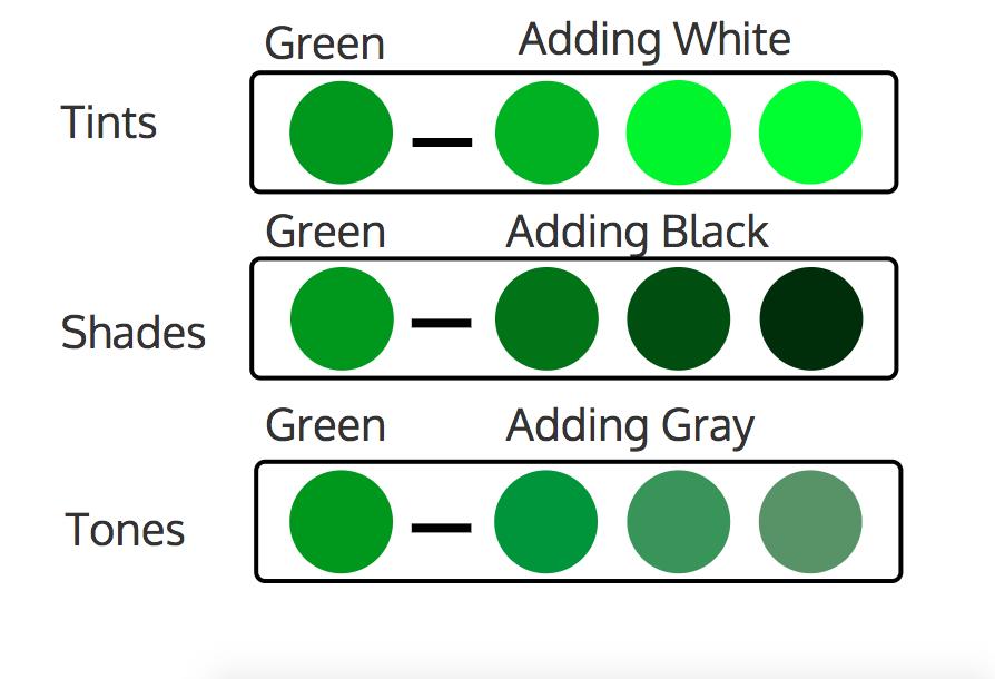 Diseño de infografía - combinación monocromática