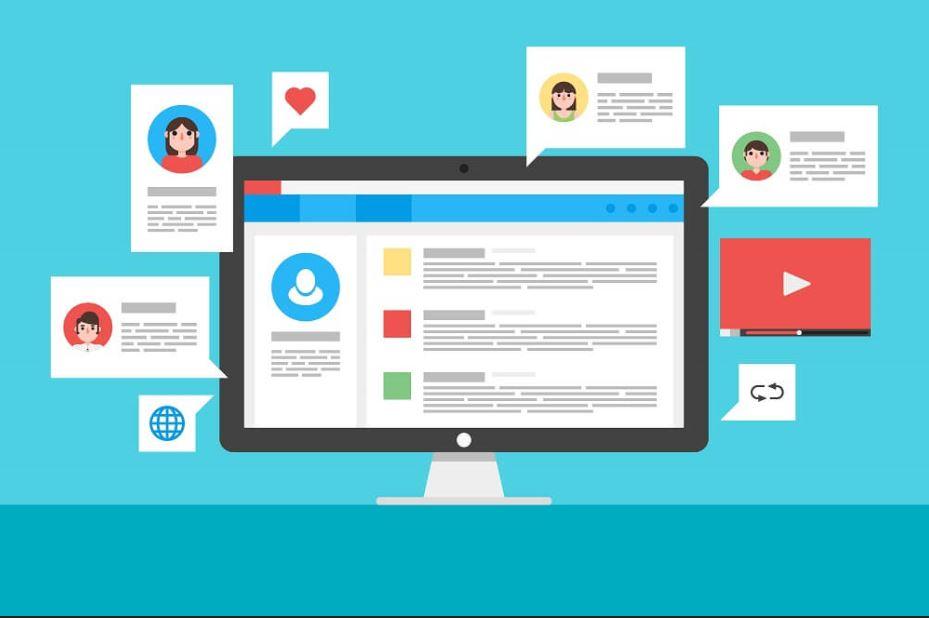 elementos de um site - imagem de uma página das redes sociais