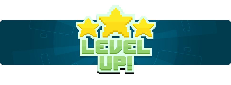 """melhores-empregos - imagem escrito """"Level Up"""""""