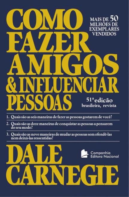 Capa do livro: Como Fazer Amigos e Influenciar Pessoas