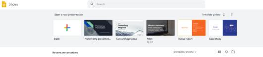 Google Presentation tool 1