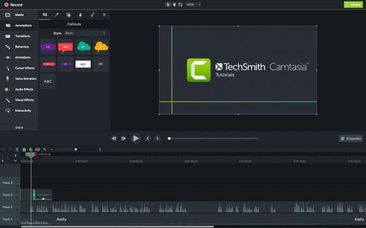 screen recorder - Camtasia interface