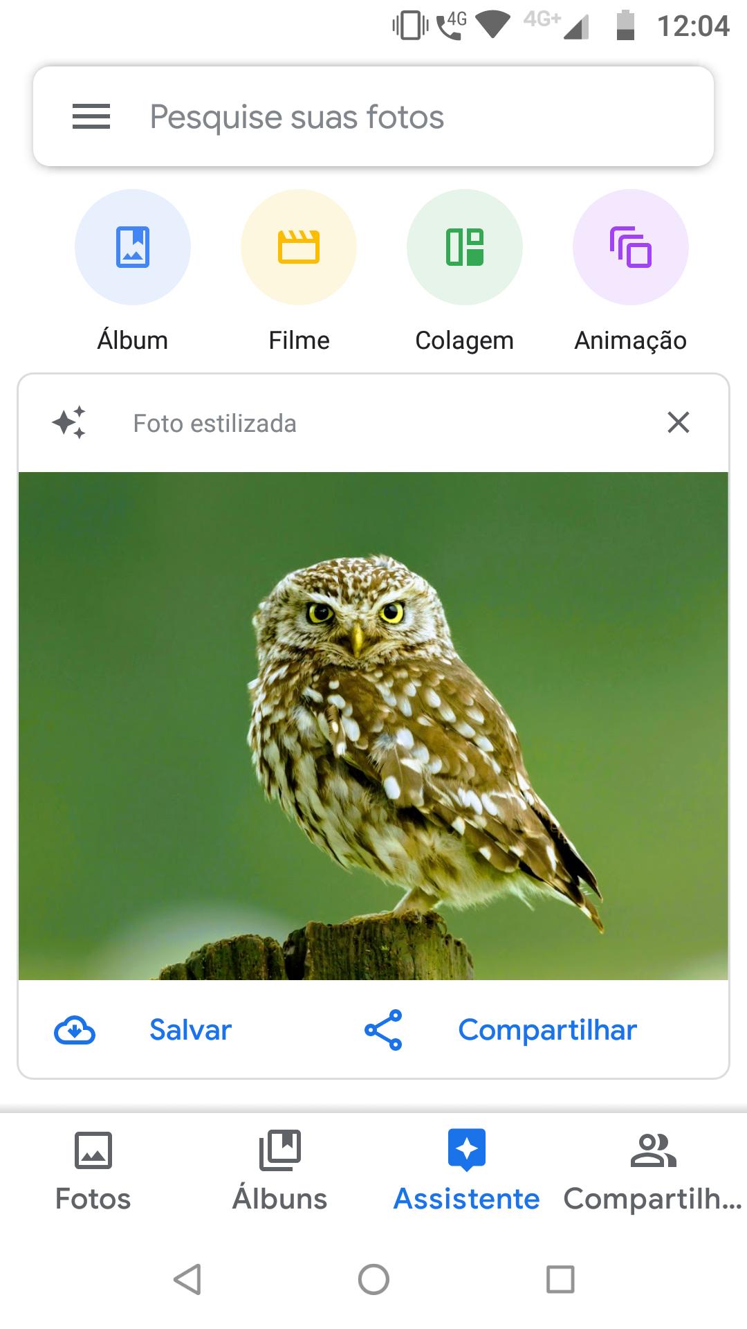 Google Fotos_imagem da função Assistente do Google Fotos