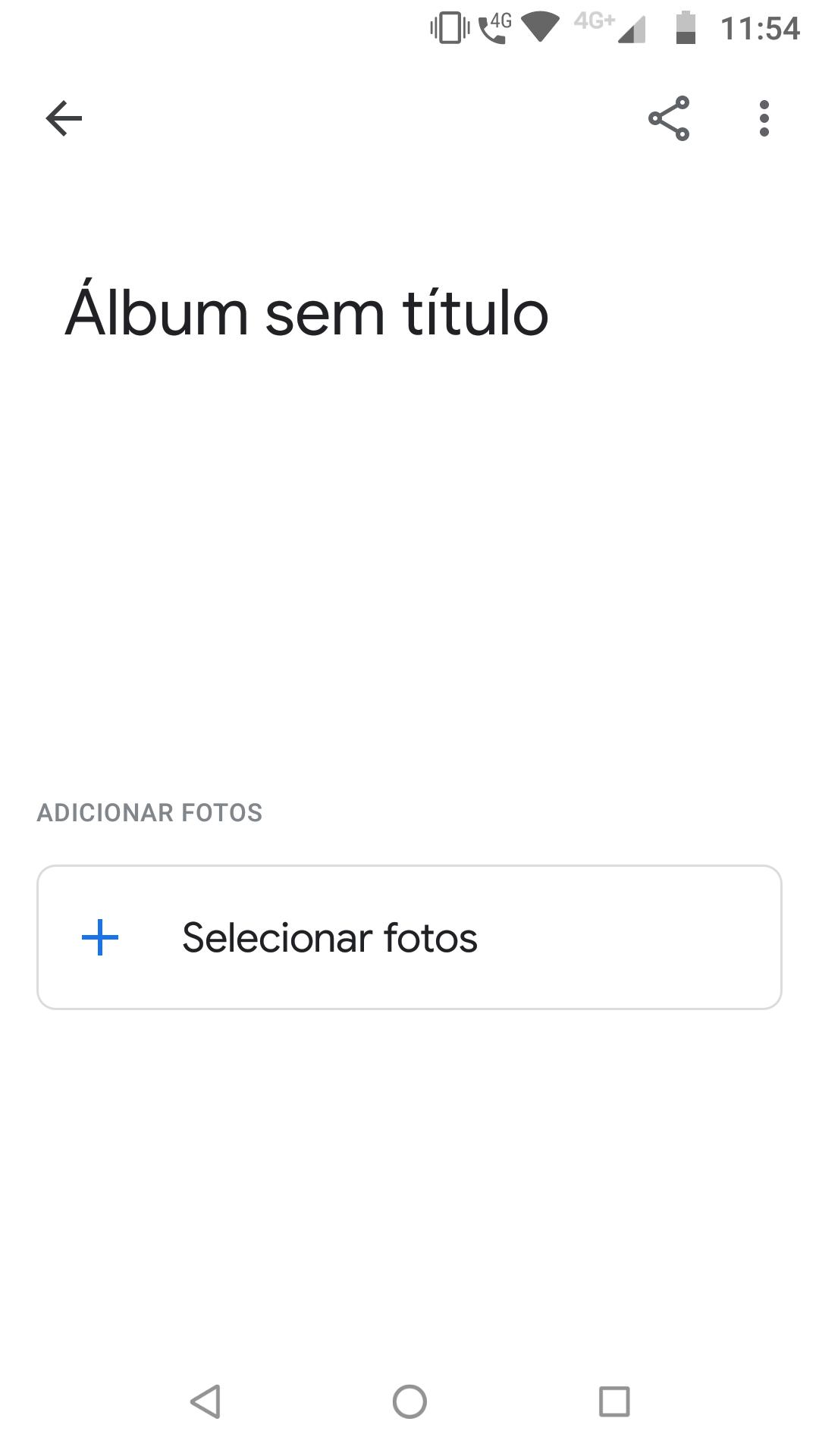 Google Fotos_imagem do processo de criação de álbuns no Google Fotos com a escolha do nome do álbum