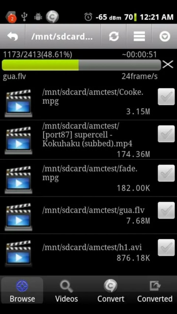 compress video - Video Converter Android