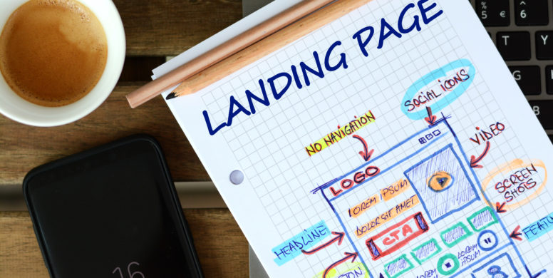 landing page com vídeos
