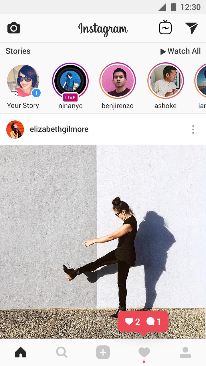 transmissão ao vivo no instagram