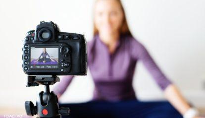 gravar um vídeo de si mesmo