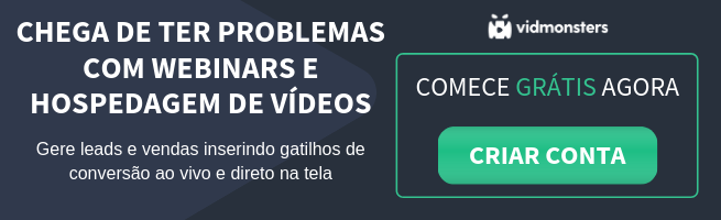 Plataforma de webinars e hospedagem de vídeo
