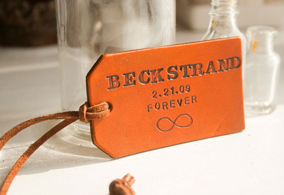 Personalized leather tags