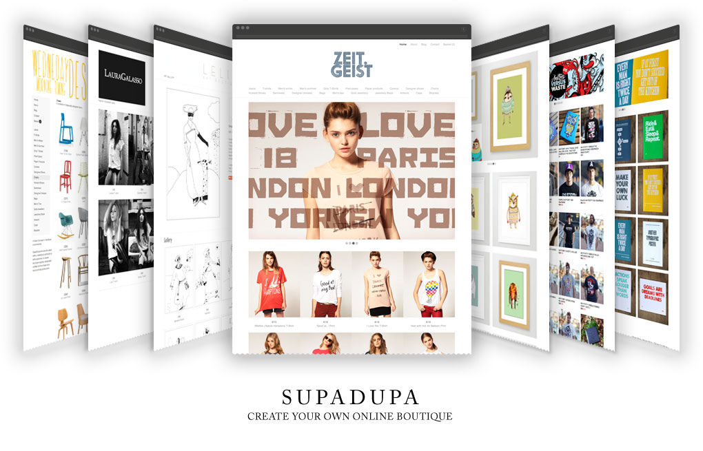 SupaDupa examples of boutiques carousel
