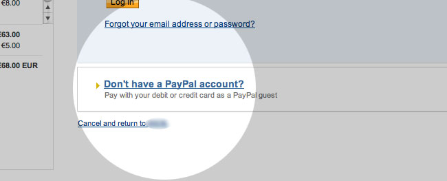 Yes, customers can choose to pay via Credit card if they do not have a PayPal account.