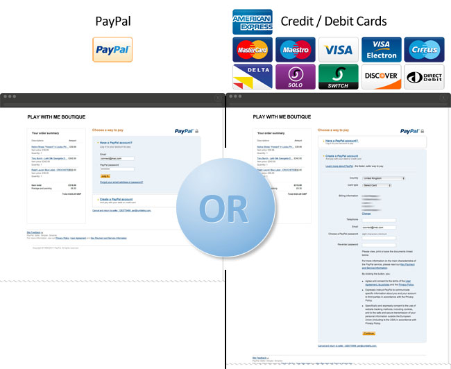 How does customer payment work for your online store