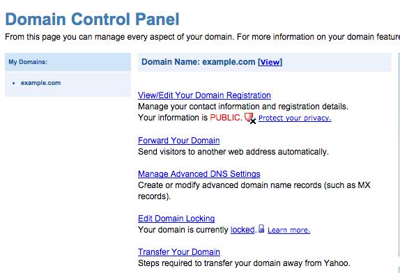 Domain Name Guide Yahoo Small Business Supadupa Docs