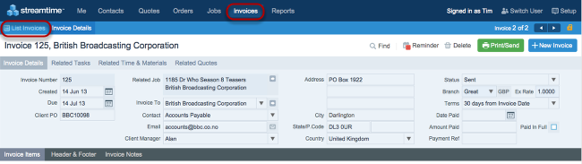 Plumbing Invoice Sample How Do I Create An Invoice In Streamtime  Streamtime Classic Docs American Express Receipts Excel with Practicount And Invoice Excel When You Are Ready To Export Your Invoices You Need To Go To Invoices   List Invoices Quickbooks Export Invoice Template Pdf