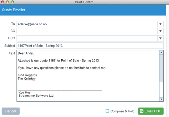 How Do I Change The Text In The Email Templates For QuotesPOs - Estimate email template